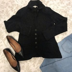 Cabi woven charcoal grey blazer